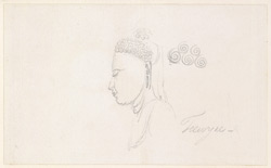 Profile of the Buddha's face as in WD1759.  22 January 1790.